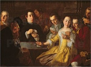 the card game painting